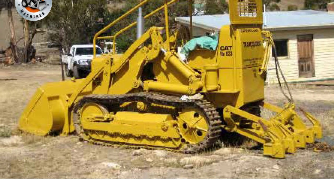 Classic Machines : The Cat 933 Traxcavator