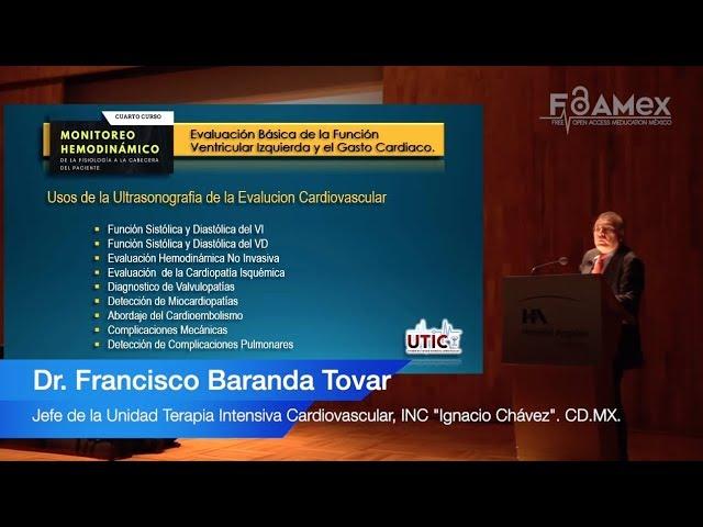 Evaluación de la Función Ventricular Izquierda y Gasto Cardíaco - Dr.  Francisco Baranda Tovar