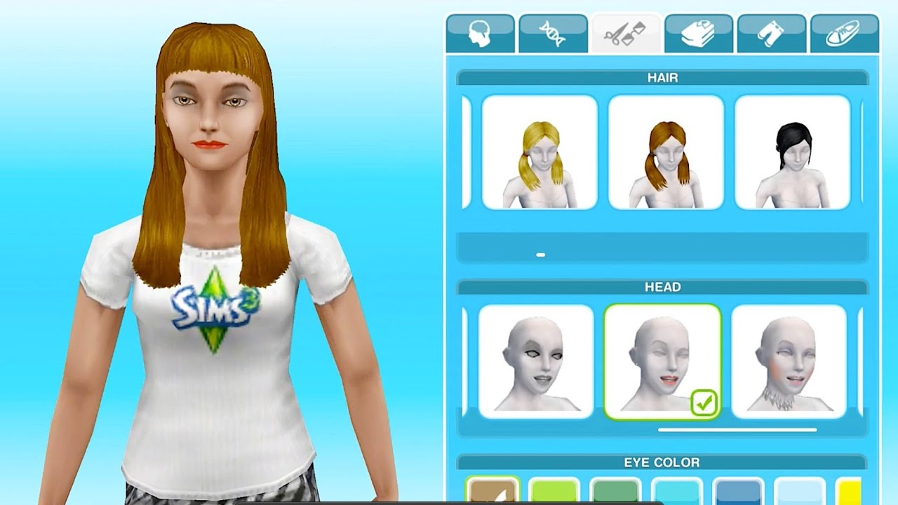 long luxurious hairstyles- sims freeplay let's eat update