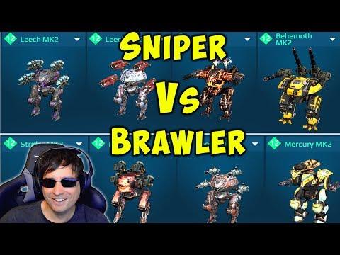 SNIPER VS BRAWLER - 2 Hangars Compared Mk2 Gameplay War Robots Live WR