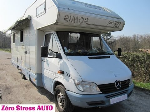 mercedes benz sprinter 313cdi rimor superbrig 727 camping car avec capucine int rieure youtube. Black Bedroom Furniture Sets. Home Design Ideas