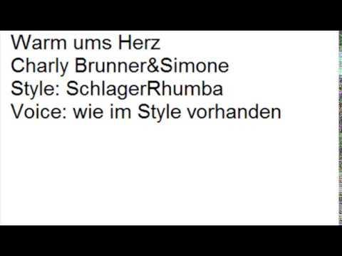 Charly Brunner&Simone - Warm ums Herz - instrumental - COVER by Dorfjunge2018