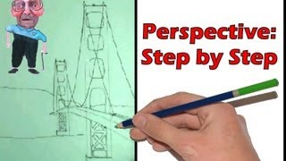 Perspective Step by Step- How to Draw a Bridge