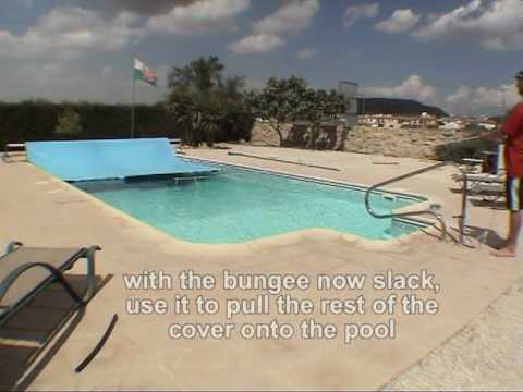 DIY Solar swimming pool cover leading edge tow boom