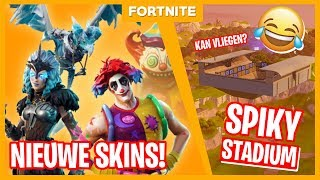 NIEUWE SKINS + SPIKY STADIUM & PORT A FORTRESS! - Fortnite