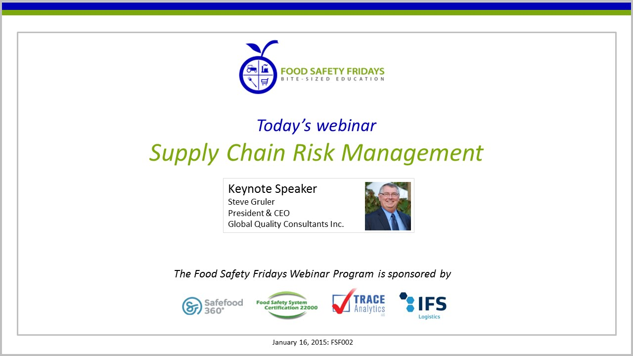 supply chain risk management pdf