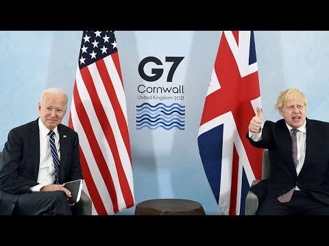 In full: Joe Biden meets Boris Johnson in Cornwall ahead of G7 summit, From YouTubeVideos