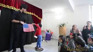 Magia con la bandera de Chile - Mago Italo