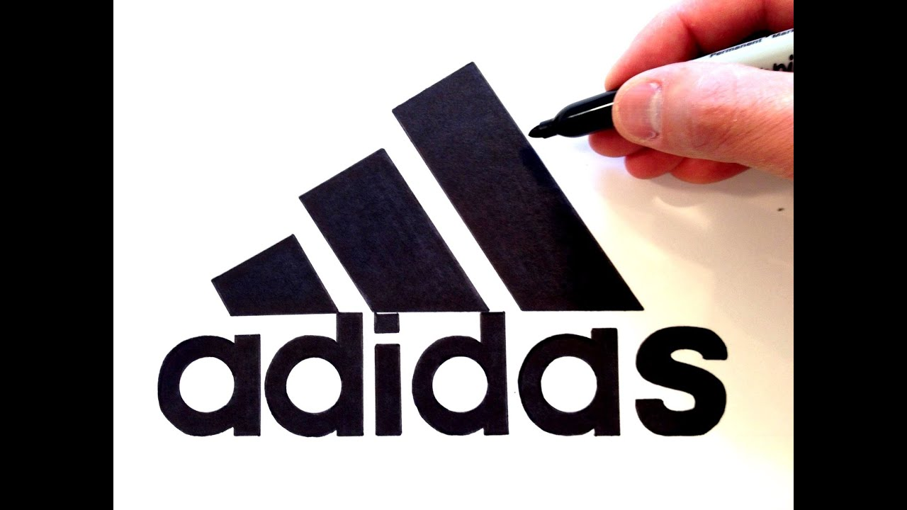 39e14c4c8e4d How to draw the Adidas Logo - Best on Youtube - YouTube