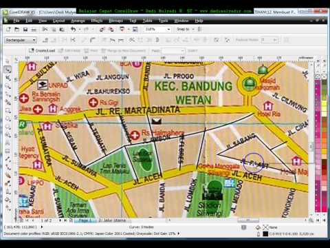How to Make Map in Corel Draw, Tutorial Corel Draw, Tips and Trick, Mastering Corel Draw