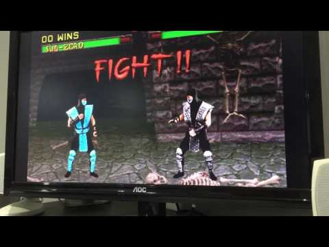 Mortal Kombat 2 - Beating the hidden character Smoke - easy!