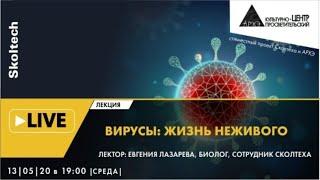 """Онлайн-лекция """"Вирусы: жизнь неживого"""" в рамках проекта """"Сколтех в Архэ"""""""