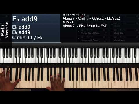 Psalms 42 (Live) Tori Kelly Ft. Kirk Franklin Piano Tutorial Part 3