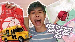 BACK TO SCHOOL SUPPLIES HAUL 2019 FT. NBS (PHILIPPINES) | RenielReyesTV