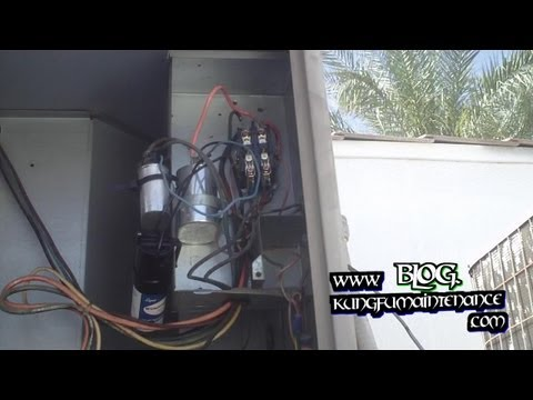 How To Replace Annoying Noisy Buzzing Air Conditioner Contactor Plus Capacitors Real Time