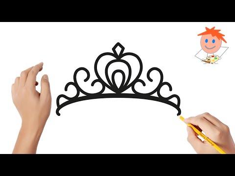 How To Draw A Princess Tiara Crown Easy Step By Step | Drawing For Kids ❤️