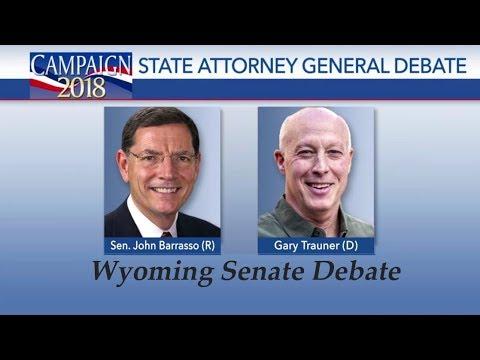 Wyoming Senate Debate John Barrasso vs Gary Trauner Oct 25, 2018