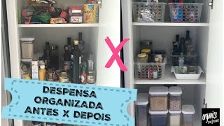 ORGANIZAÇÃO DA DESPENSA: ANTES E DEPOIS | Organize sem Frescuras!