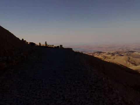 Walking in Mount Nemrut Turkey