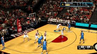 NBA 2K13 PC My Career (Blazers vs Thunder) 4th Season
