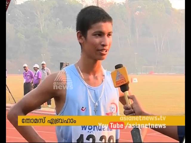 Thomas Abraham bags Gold Medal in 5 KM Race Walk in National School sports Meet