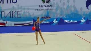 Шматко Полина, мяч. Первенство России по гимнастике г.Казань 2014