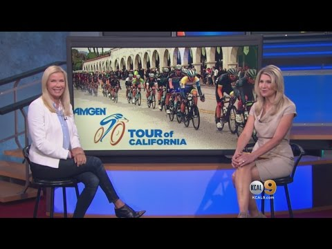Katherine Kelly Lang Leads Amgen Tour 'Breakaway Mile'