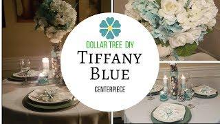 Tall Elegant Wedding Centerpiece  Dollar Tree Inspired  DIY  How to make a Tiffany Blue Centerpiece