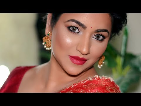 TRADITIONAL LOOK with a MODERN TWIST | Classic Indian Makeup Tutorial
