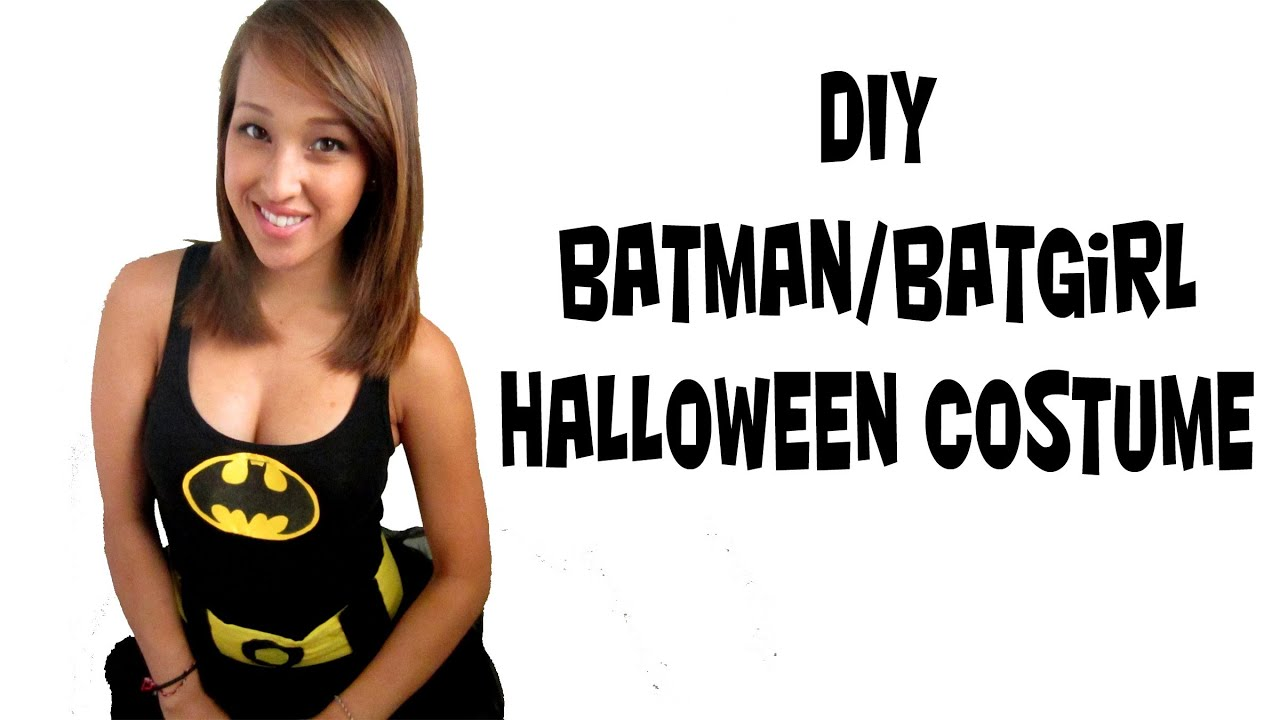 Batman batwomen costume fast easy simple diy youtube solutioingenieria Image collections