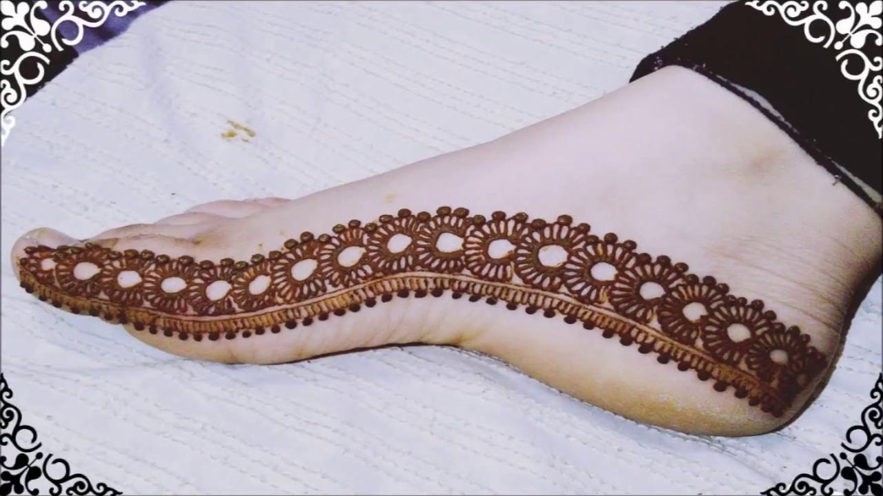 Simple And Easy Foot Mehndi Designs Youtube