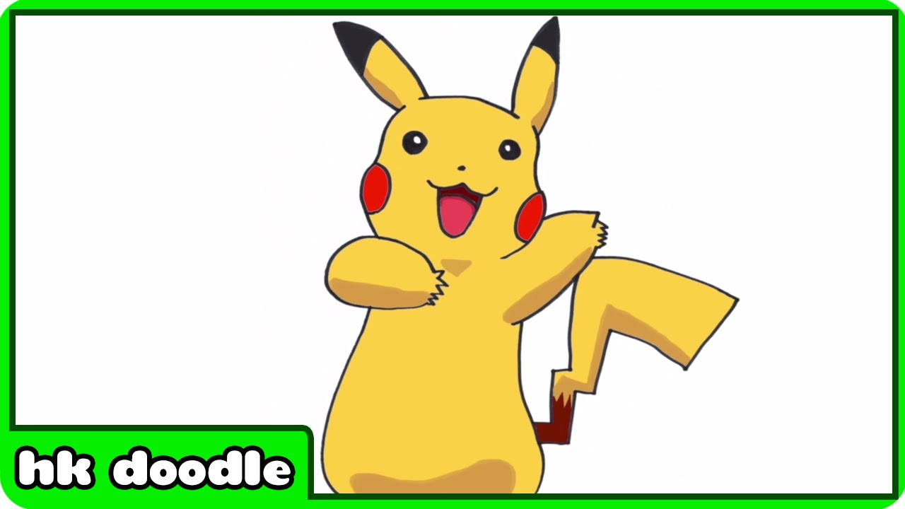 How to draw pokemon go pikachu and more popular cartoon characters