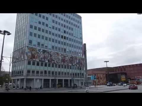 Walking in Berlin around Alexanderplatz - Otto Braun Straße - Karl Marx Allee