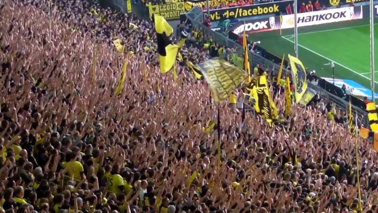 Stimmung Südtribüne: Borussia Dortmund - FC Bayern München 1:1 BVB FCB Champions League Warmup