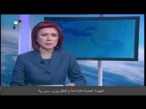 Новости на русском сирийского телевидения (госканал Syria Satellite Channel) от 1 янв. 2015 г.
