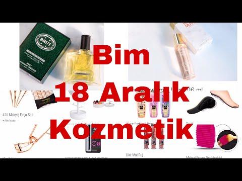 Bim 18 Aralık Kozmetik ürünleri