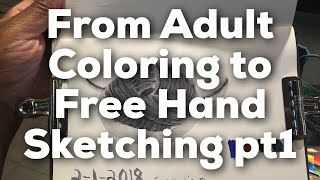 From Adult Coloring to Making Sketches: Learning to draw livestream