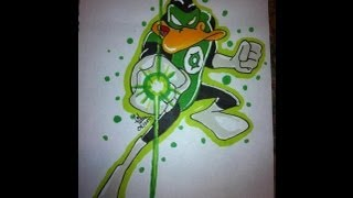 Copic Marker Speed Paint: Green Lantern Duck Dodgers