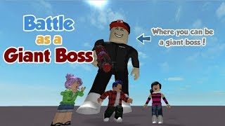 try to kill the BOSS!! robLOX