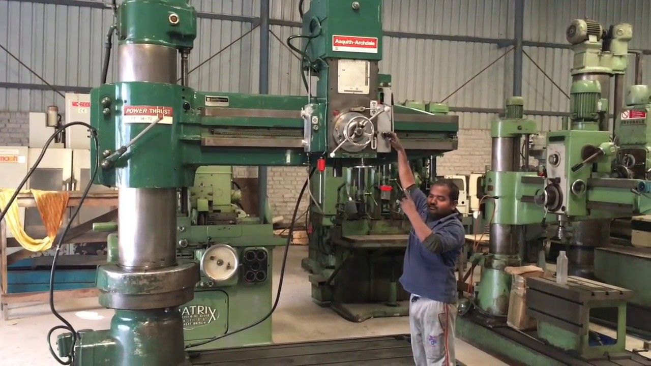 radial drilling machine asquith archdale youtube rh youtube com Pedestal Drill asquith od1 radial arm drill manual