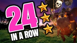Clash of Clans: 24 3-STARS IN A ROW WITH THIS ARMY