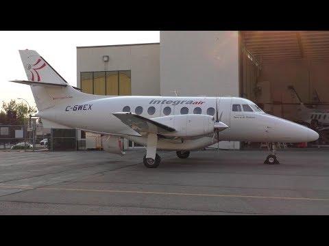 Integra Air British Aerospace Jetstream 31 [C-GWEX] Landing at Calgary Airport ᴴᴰ