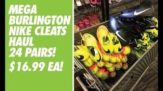 Mega burlington nike cleats haul - 24 pairs at 16.99 each!