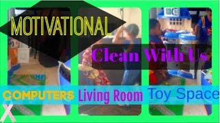 Motivational Clean With Us - Living Room - Toys - Large Family Style