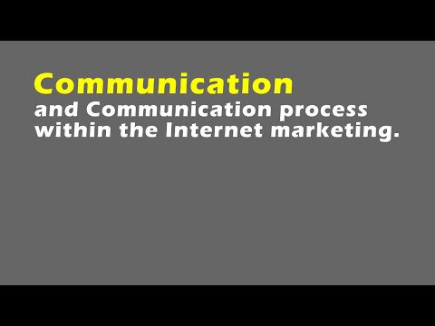 Communication And Communication Process