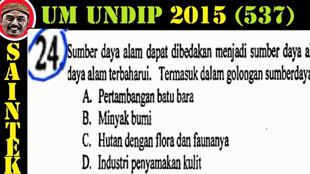 UM UNDIP 2015 Kode537, Matematika Dasar, Pembahasan No 24
