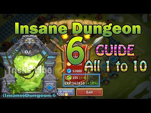 Castle Clash - Insane Dungeon 6 GUIDE [All 1 To 10]
