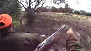 Shooting pigs from a Quad.