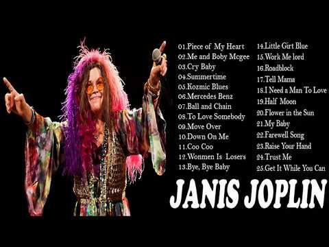 Janis Joplins Greatest Hits _ Best Of Janis Joplin Full HD