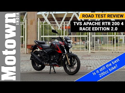 TVS Apache RTR 200 4v Race Edition 2.0 | Road Test Review | Motown India